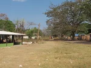Aldeia Txuiri na Ilha do Bananal, sudoeste do estado (Foto: Elisangela Farias/G1)