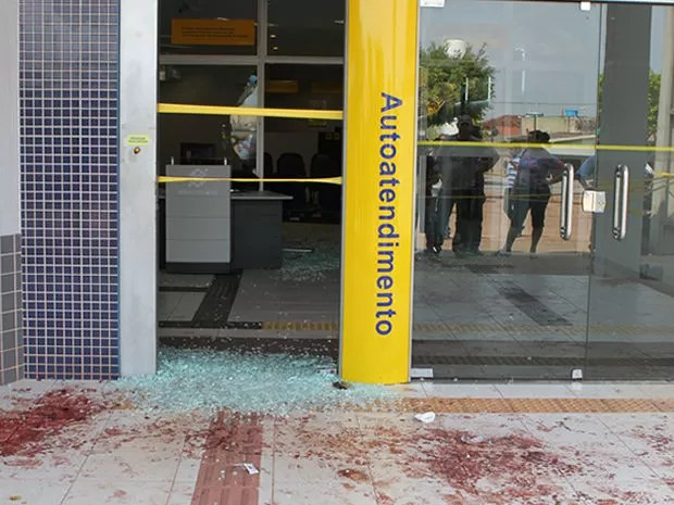 Assalto ocorreu em um banco na cidade de Marcelândia. (Foto: Cleverton Neves/Sónotícias)