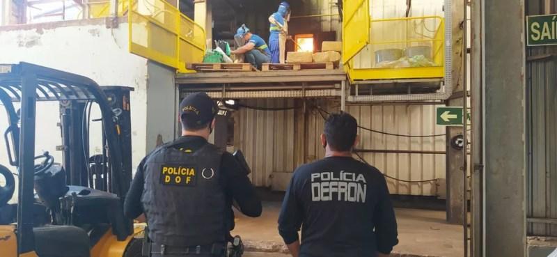 Incineração de drogas em farinheira de Dourados — Foto: DOF e Defron/Divulgação
