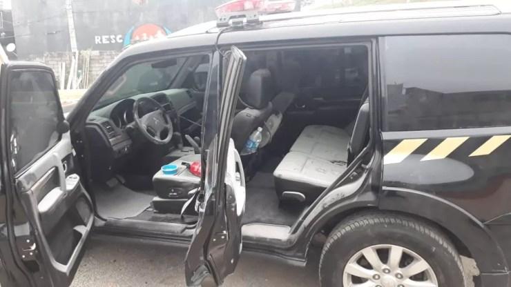 Carro usado no roubo de ouro no Aeroporto de Cumbica — Foto: Divulgação/Polícia