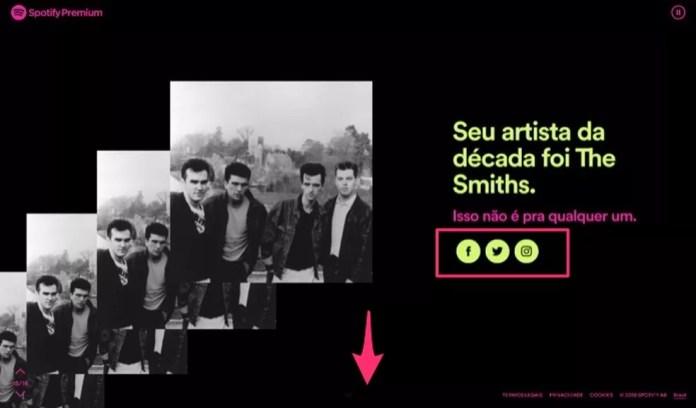 Artista mais ouvido no ano por um usuário do Spotify — Foto: Reprodução/Marvin Costa