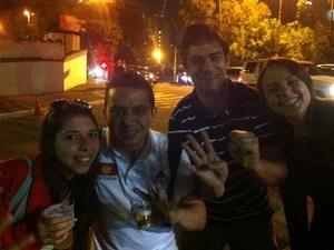 Amigos fazem prova da OAB (Foto: Rodrigo Ortega/G1)