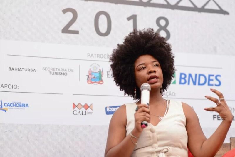 Manuela Barbosa na Flica 2018 — Foto: Ricardo Prado/Divulgação