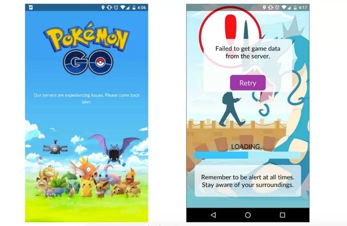 Erros de conexão em Pokémon Go (Foto: Reprodução/Business Insider)