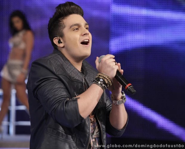 Luan Santana agitou o Domingão com sucessos (Foto: Domingão do Faustão / TV Globo)