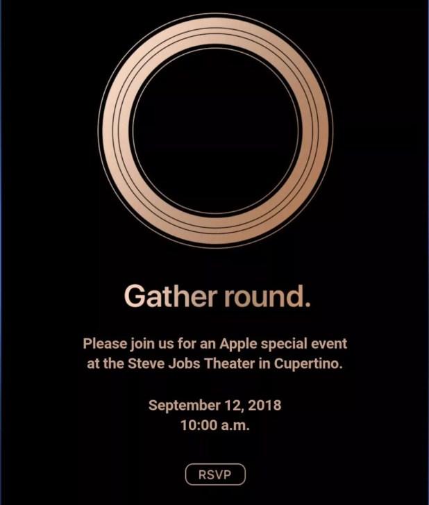 Convite para evento da Apple em setembro de 2018 (Foto: Divulgação/Apple)
