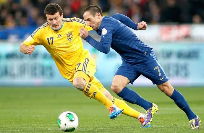 Ribery Ucrânia e França (Foto: Agência Reuters)