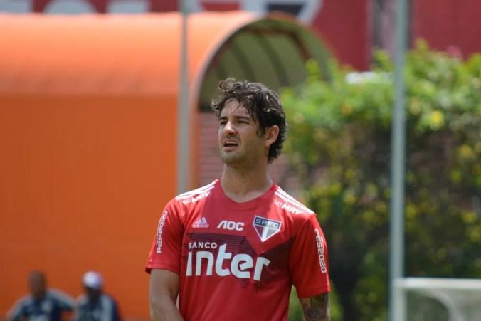 Alexandre Pato em treino no São Paulo — Foto: Divulgação/São Paulo