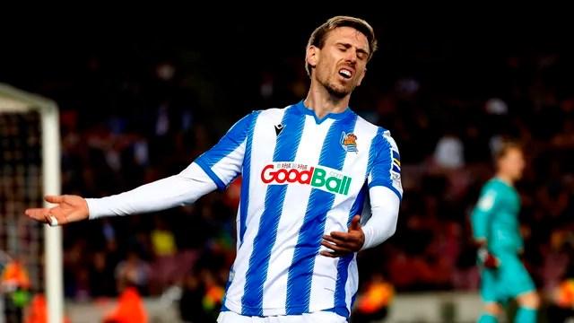 Monreal lamenta as chances perdidas pela Real Sociedad
