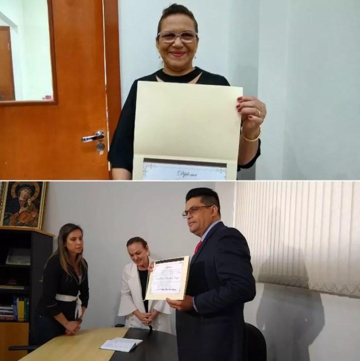 Após decisão do TSE, deputados presos em operação da PF são diplomados no AC: 'justiça de Deus' — Foto: Quésia Melo/G1
