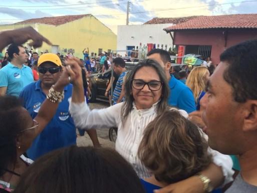 Maria Olimpia é eleita prefeita de Paraú — Foto: Hugo Andrade/Inter TV Costa Branca