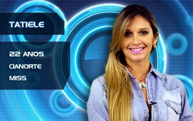 Tatiele (Foto: TV Globo/BBB)