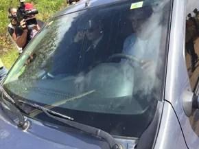 Secretário de Justiça e Cidadania deixa prisão após ir à unidade na manhã desta sexta (6) (Foto: Inaê Brandão/G1 RR)