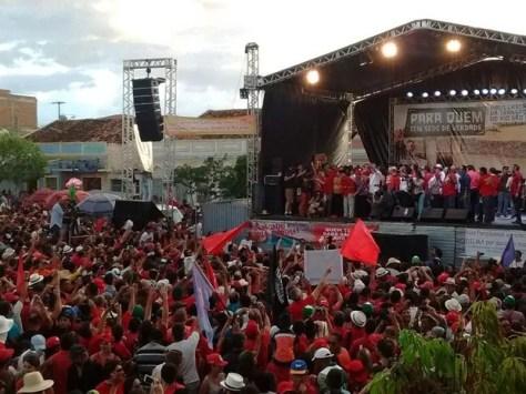 Lula e Dilma visitam obra do São Francisco na Paraíba e fazem discurso (Foto: Suetoni Souto Maior/Jornal da Paraíba)