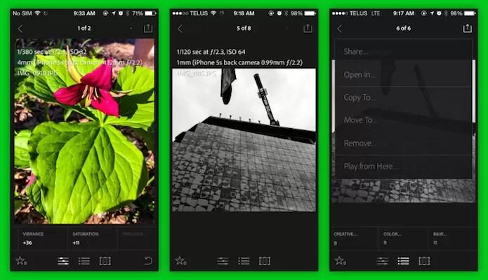 Adobe lançou uma versão do Lightroom mobile especifica para o iPhone (Foto: Reprodução/TechCrunch)