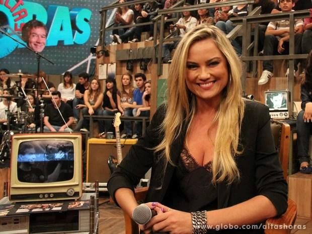 Ellen Rocche participa do Altas Horas deste sábado (Foto: TV Globo/Altas Horas)