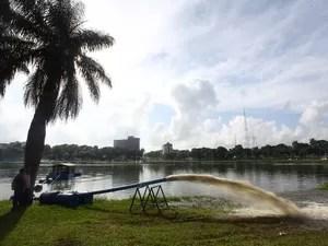 Obras na Lagoa interditam trânsito no rolamento esquerdo do Parque Solon de Lucena (Foto: Alessandro Potter/Secom JP)