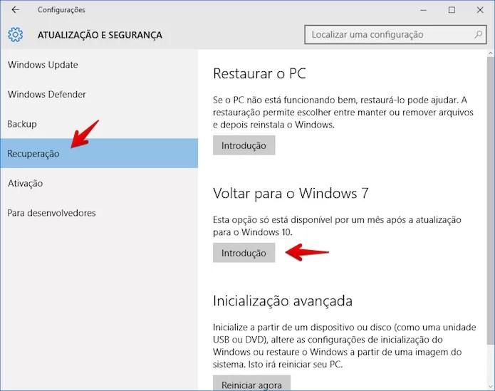 Acessando o assistente de desinstalação do Windows 10 (Foto: Reprodução/Helito Bijora)
