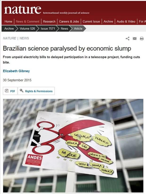 Resultado de imagem para cortes na ciencia brasileira