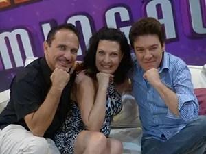 O trio iluminado de preparadores vocais: Mirna Rubim, Wilson Gava e Tadeu Matias (Foto: Camila Moreira/ Gshow)