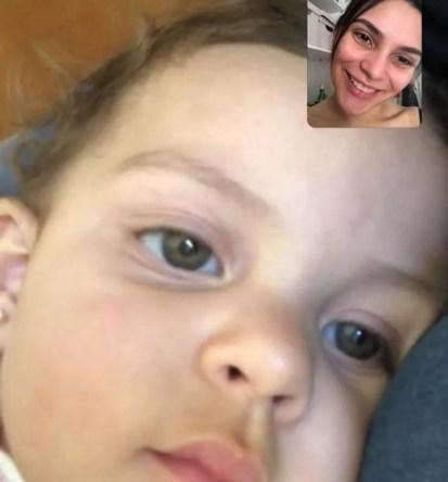 Ludmilla fala com a filha Antonella desde setembro de 2020 apenas por chamada de vídeo — Foto: Arquivo pessoal