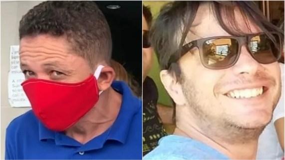 Raimundo Cláudio Diniz (à esquerda) confessou ter matado o publicitário Diogo Costa (à direita), após uma briga de trânsito, em São Luís — Foto: Paulo Soares e Arquivo Pessoal