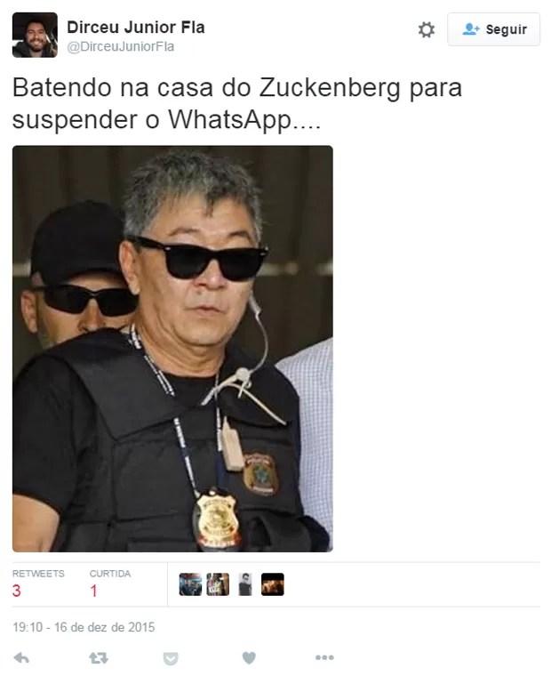 Policial da operação Lava-Jato ajuda na proibição do WhatsApp no Brasil em meme na internet