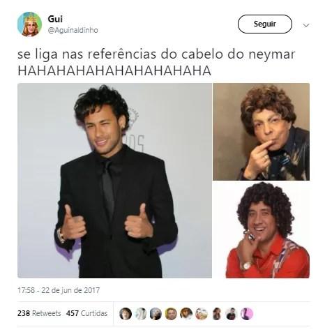 Cabelo do Neymar (Foto: Twitter/Reprodução)