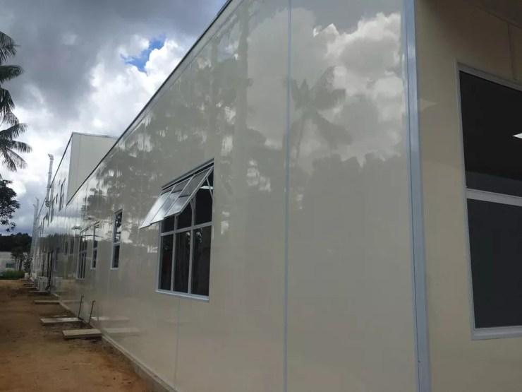 Hospital de campanha de Cruzeiro do Sul — Foto: Gledisson Albano/ Arquivo pessoal