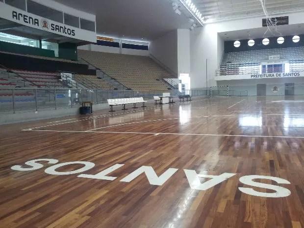 Arena Santos (Foto: Mariane Rossi / G1)