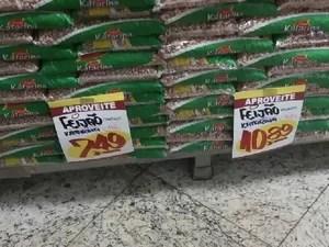macapá, amapá, feijão, preço, supermercado (Foto: John Pacheco/G1)