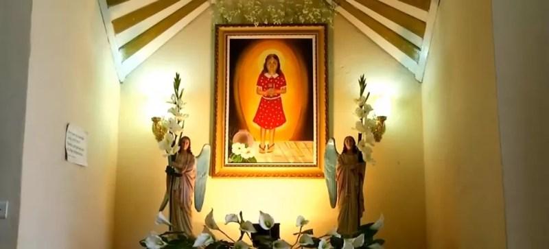 Menina Benigna é considerada santa popular, e processo de canonização ocorre no Vaticano — Foto: TVM/Reprodução