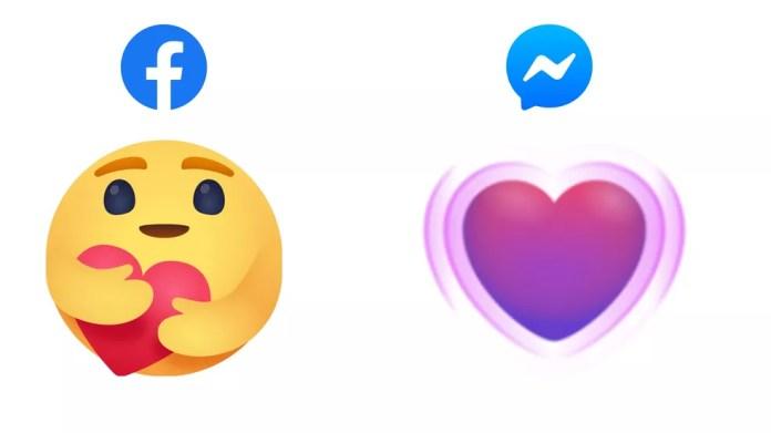 Facebook e Messenger ganham novas reações para usar na quarentena do coronavírus — Foto: Divulgação/Facebook