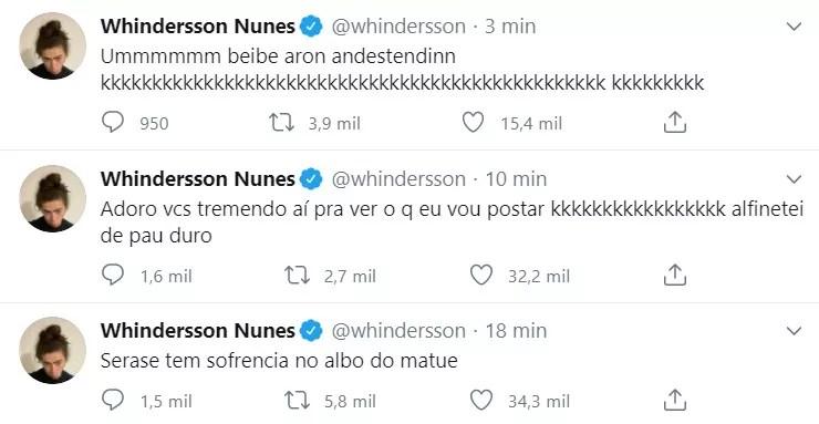 Whindersson Nunes tem reação inusitada ao saber de namoro de Luisa Sonza (Foto: reprodução/twitter)