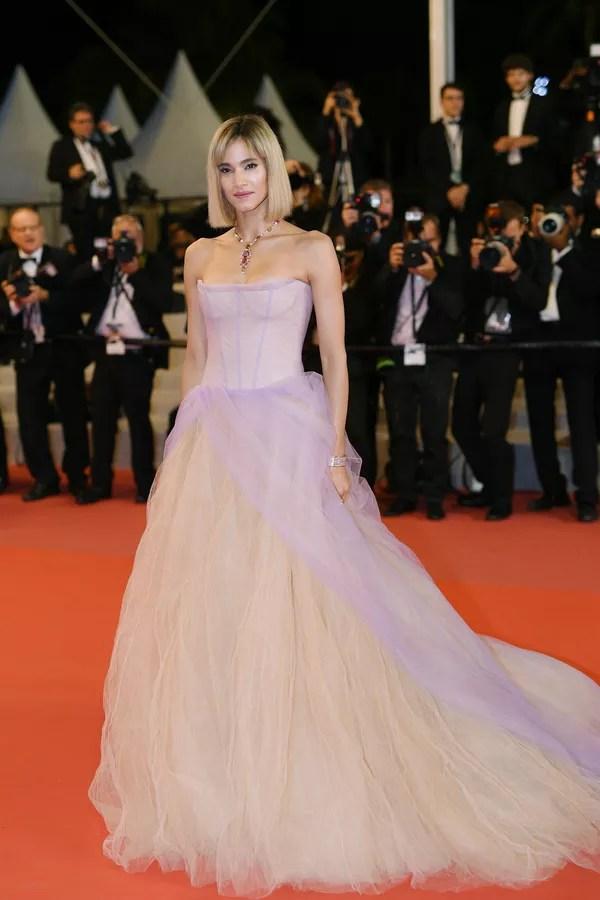 Sofia Boutella de Vera Wang Bridal no Festival de Cinema de Cannes (Foto: Getty Images)