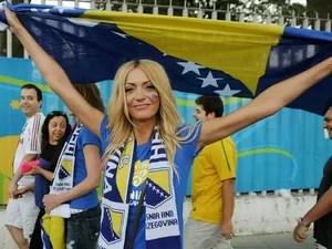 Musa da Bósnia torce pela seleção no Maracanã (Foto: Alexandre Durão / G1)