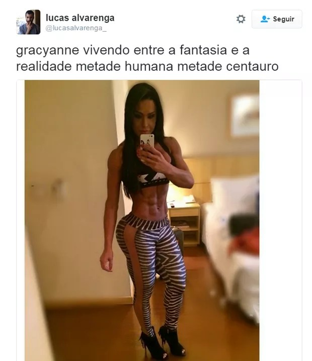 Gracyanne Barbosa (Foto: Reprodução/Twitter)