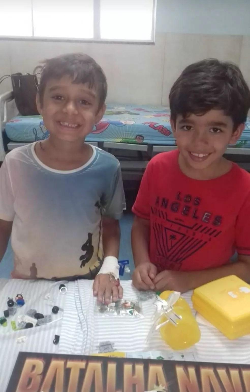 Dia do amigo: : menino teve ajuda das amizades para superar o câncer — Foto: Arquivo pessoal
