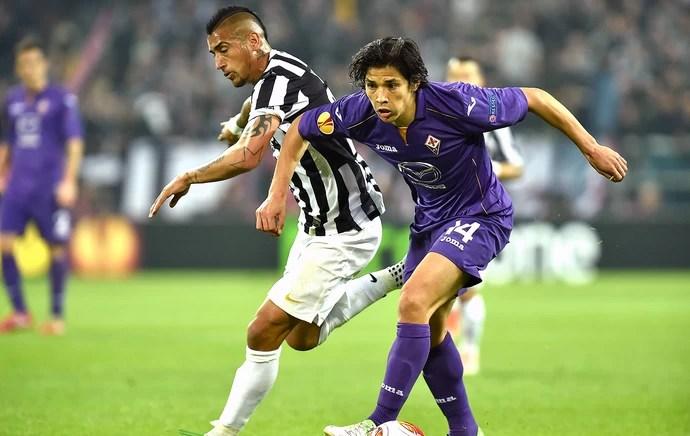 Arturo Vidal jogo Juventus e Fiorentina (Foto: Getty Images)