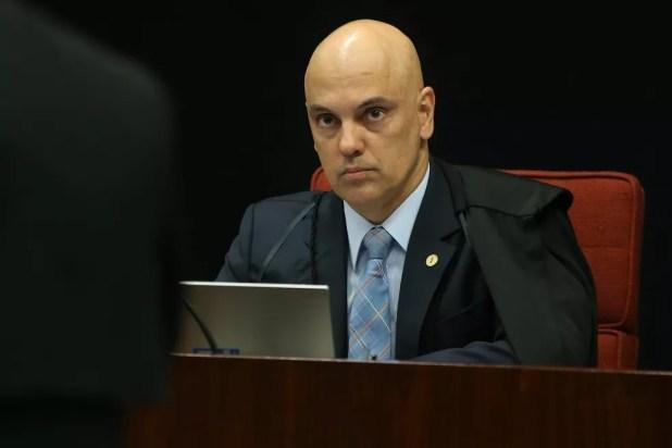 O ministro do STF Alexandre de Moraes durante sessão da Primeira Turma (Foto: André Dusek/Estadão Conteúdo)