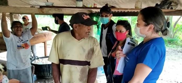 O agricultor Sebastião Martins, de 68 anos, não aceitou receber o imunizante na zona rural de Cruzeiro do Sul — Foto: Reprodução/Rede Amazônica Acre