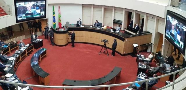 Plenário da Alesc na tarde desta sexta-feira (23) — Foto: Jean Raupp/NSC TV