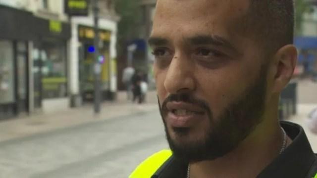 O segurança Ari diz que a droga está dificultando a vida das empresas no centro da cidade (Foto: BBC)
