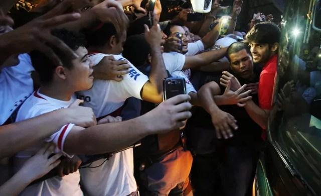 São Paulo em Cuiabá (Foto: Rubens Chiri / saopaulofc.net)