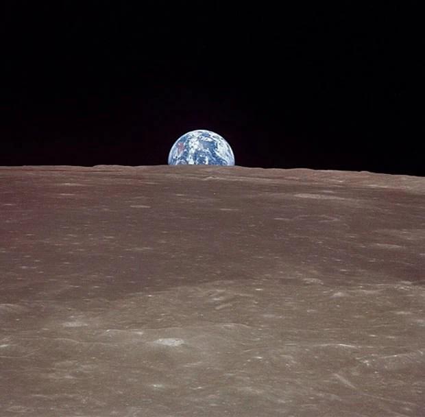 Iimagem da Terra feita da Apolo 11 em 1969.  (Foto: Nasa)