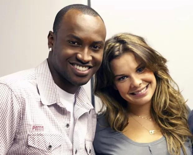 Thiaguinho e Fernanda Souza  (Foto: Domingão do Faustão / TV Globo)