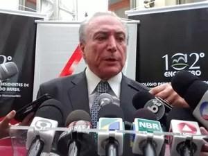 Vice-presidente da República, Michel Temer, em Belo Horizonte (Foto: Tábata Poline/G1)