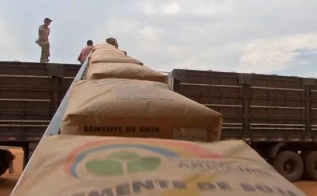 Os problemas no transporte de cargas afeta a chegada dos insumos agrícolas — Foto: Reprodução /TVCA
