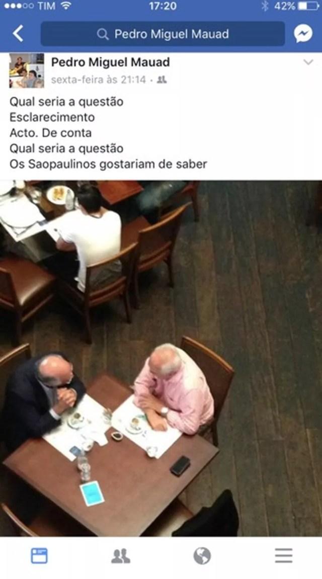 Encontro entre Leco e Ataíde foi criticado por Pedro Mauad (Foto: Reprodução)