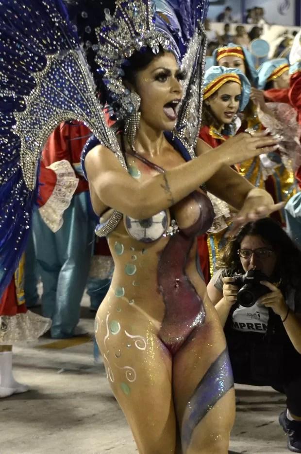 Ellen Santana, musa da Caprichosos  (Foto: Roberto Teixeira / Ego)